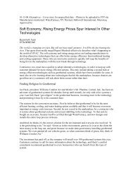 Soft Economy, Rising Energy Prices Spur Interest ... - NY Thermal Inc.