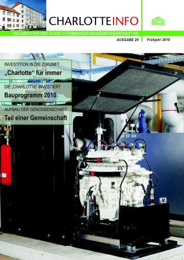 """""""Charlotte"""" für immer - Charlottenburger Baugenossenschaft eG"""