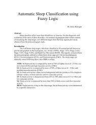 Automatic Sleep Classification using Fuzzy Logic - Faculty.utep.edu