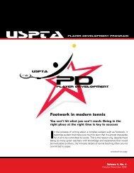USPTA newsletter Vol. 2, No. 4, 2005, Footwork In Modern Tennis