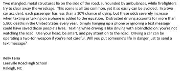 Teen driving essay
