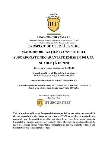 descarcă de aici prospectul ofertei (.pdf) - Ziua de Cluj