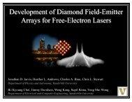 Development of Diamond Field-Emitter Arrays for Free-Electron Lasers