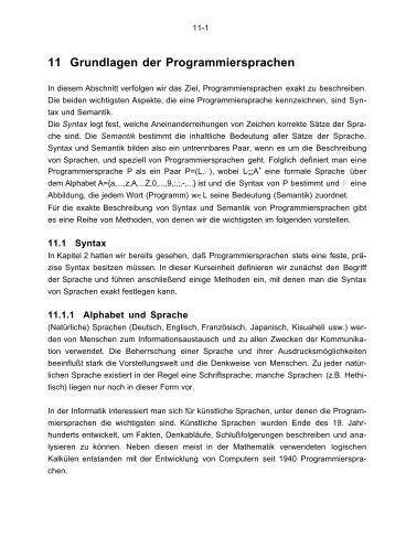 Kapitel 11 - Grundlagen der Programmiersprachen - DdI