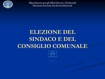 elezione del sindaco e del consiglio comunale - Ministero Dell'Interno