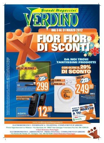 DAL 3 AL 31 MARZO 2012 - Verdino Grandi Magazzini