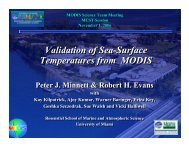 Validation of Sea-Surface Temperatures from MODIS Validation of ...