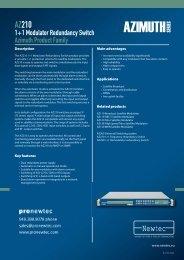 AZ210 1+1 Modulator Redundancy Switch - TBC Integration