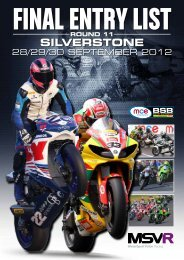 SILVERSTONE - MotorSport Vision Racing