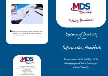 CHC50108 Diploma of Disability - NCOSS