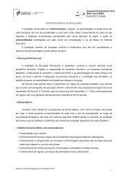 Critérios Gerais de Avaliação - Agrupamento de Escolas da Agrela ...
