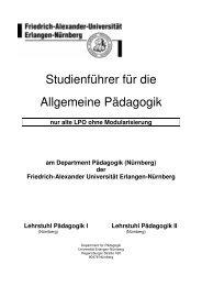 Studienführer für die Allgemeine Pädagogik - Lehrstuhl für ...
