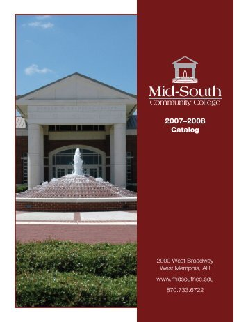 2007–2008 Catalog - Mid South Community College