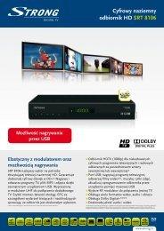 Cyfrowy naziemny odbiornik HD SRT 8106 - STRONG Digital TV