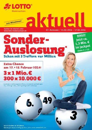 3 x 1 Mio. € 300 x 10.000 € - Lotto