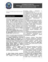 tudományos hírlevél - Debreceni Egyetem OEC - Egészségügyi Kar