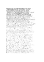 Pitkä automaattinen runo Kanervalan tapaan
