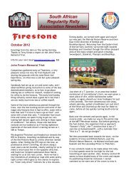 South African Regularity Rally Association Newsletter - The South ...