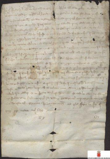 Carta abierta de Fernando IV al adelantado del Reino de Murcia ...