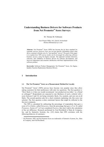 Understanding Business Drivers for Software Products from Net ...