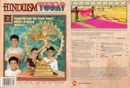 Hinduism Today October 2008 - Cover, Index, Front Articles