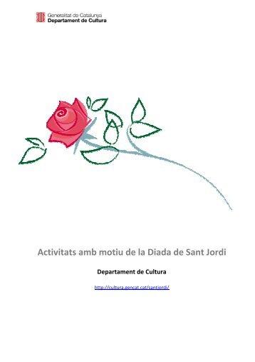 Dossier Activitats Sant Jordi - Premsa - Generalitat de Catalunya