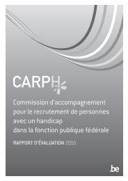CARPH: Rapport d'évaluation 2010 en noir et ... - Fedweb - Belgium