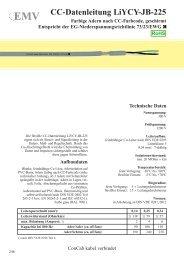 CC-Datenleitung LiYCY-JB-225 - ConCab kabel gmbh