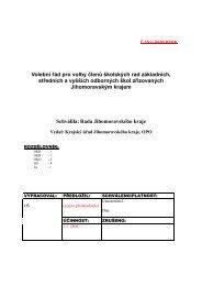 Volební řád pro volby členů školských rad základních, středních a ...