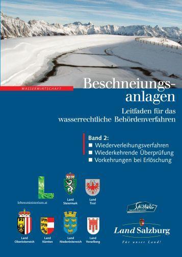 Leitfaden Beschneiungsanlagen Band 2 - Kärnten