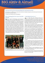 Ausgabe 02 / 2007 - Betriebssportgemeinschaft Berliner Volksbank eV