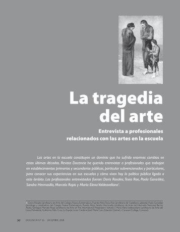 La tragedia del arte. Entrevista a profesionales ... - Revista Docencia