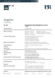 Angebot - P&R Container Vertriebs- und Verwaltungs-GmbH