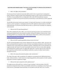 questions and answers - Overseas Private Investment Corporation