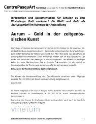 Aurum – Gold in der zeitgenös- sischen Kunst