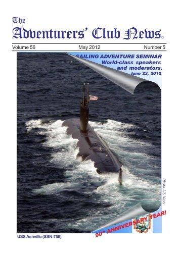 Adventurers' Club News May 2012 - The Adventurers