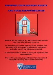knowing your housing rights and your responsibilities - Queen ...