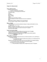 Chemistry 120 Handouts/Notes
