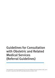 Referral guidelines - Ministry of Health