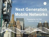 Next Generation Mobile Network - WorkShop