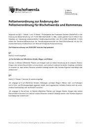 1/01/Ia - Änderung Polizeiverordnung - Bischofswerda