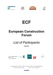 European Construction Forum - European Union of Developers and ...