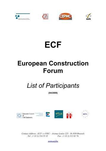 European Construction Forum - European Union of Developers and ...
