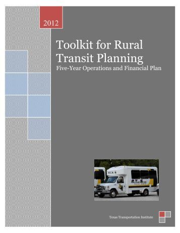 Toolkit for Rural Transit Planning - Texas A&M Transportation Institute