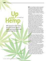 With Good Prices And Market Expansion At Hand, hemp Is Canada