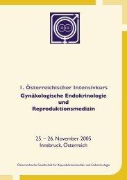 1. Österreichischer Intensivkurs 25. – 26. November 2005 Innsbruck ...