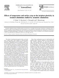 Effects of temperature and surface step on the ... - Laurent Pizzagalli