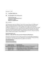 Pre-Solicitation Letter of Interest for - Transportation Agency for ...