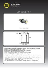 Data sheet SL 17 - LED