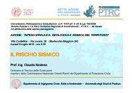 IL RISCHIO SISMICO - PTRC Piano Territoriale Regionale di ...